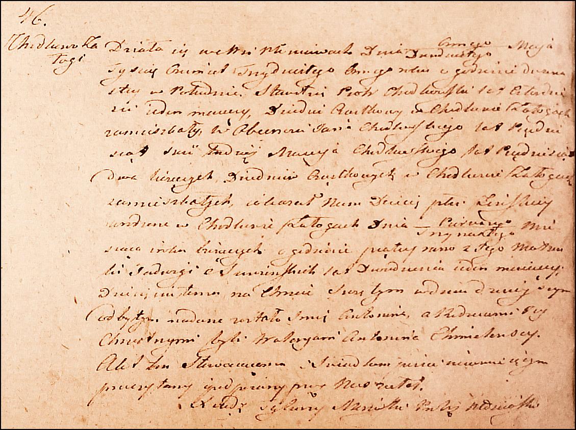 Birth and Baptismal Record for Antonina Chodkowska – 1838