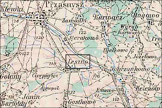 Austrian Military Map of the Leszno Area – 1910