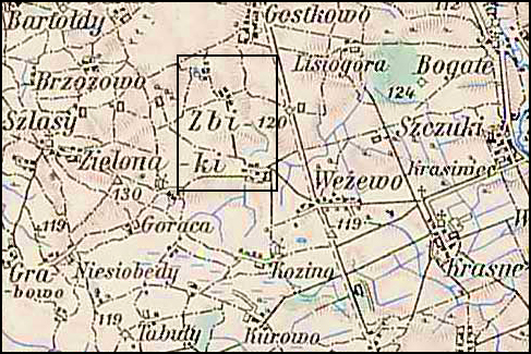 Austrian Military Map of the Zbiki Area – 1910