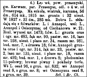 Słownik Geograficzny Entry for Leszno
