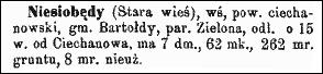 Słownik Geograficzny Entry for Niesiobędy