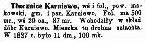 Słownik Geograficzny Entry for Tłucznice