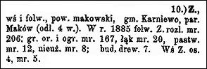Słownik Geograficzny Entry for Zakrzewo