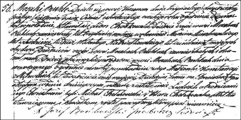 The Birth and Baptismal Record of Ludwik Chodkowski – 1846