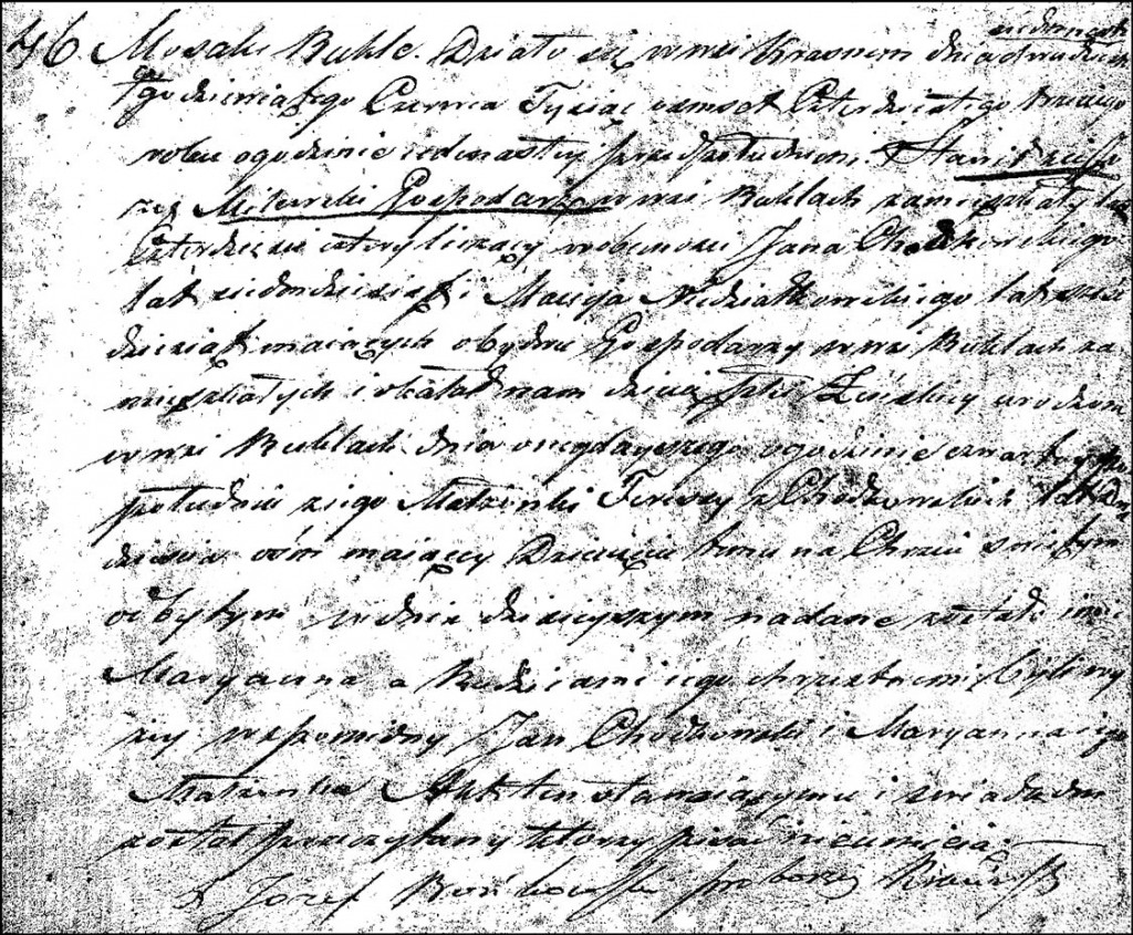 The Birth and Baptismal Record of Marianna Milewska – 1843