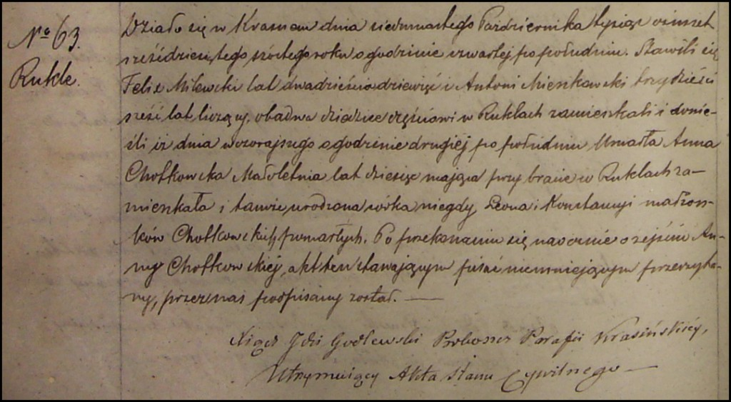 The Death and Burial Record of Anna Chodkowska – 1866