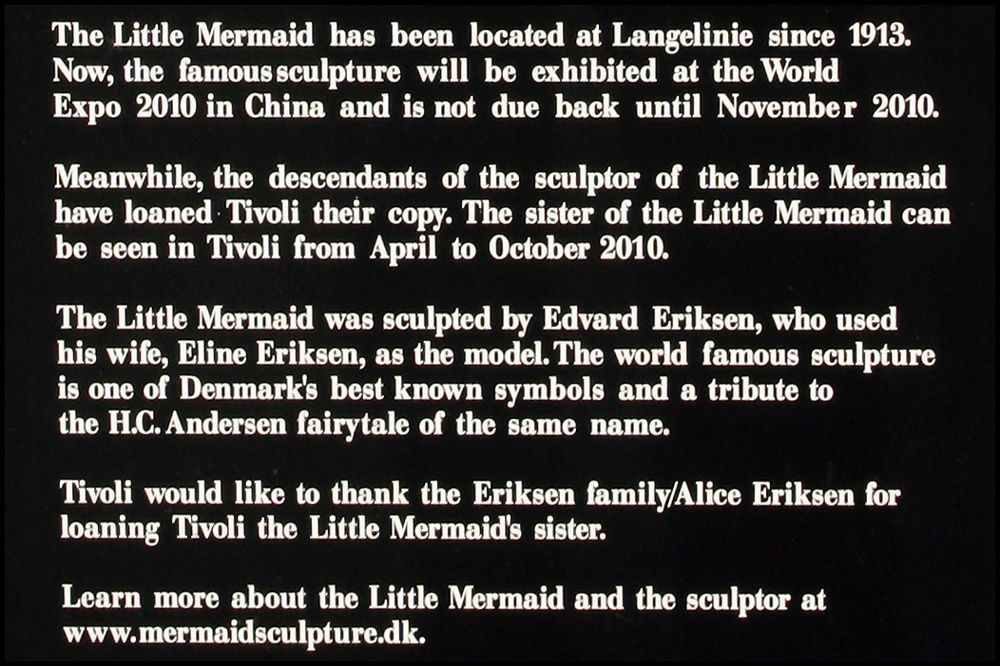 The Little Mermaid - Plaque