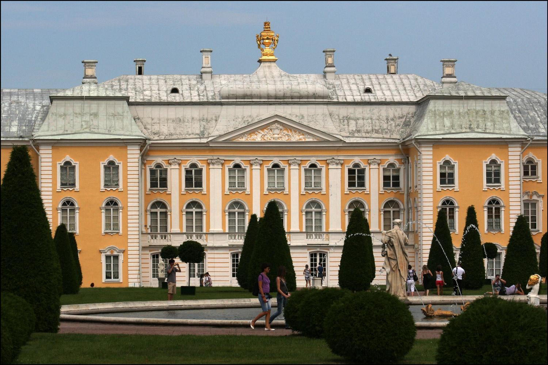 The upper gardens at peterhof