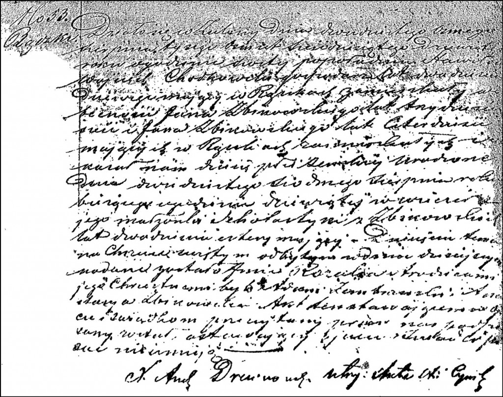 The Birth and Baptismal Record of Rozalia Chodkowska – 1862