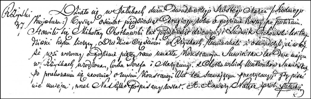 The Death and Burial Record of Konstancja Suwińska – 1852