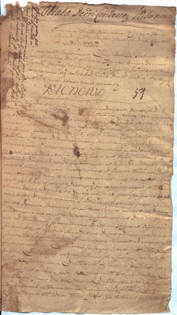 """""""Ciechanowskie Grodzkie Wieczyste"""", sygn.107, k.51r"""