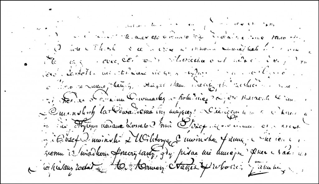 The Birth and Baptismal Record of Józef Milewski – 1847