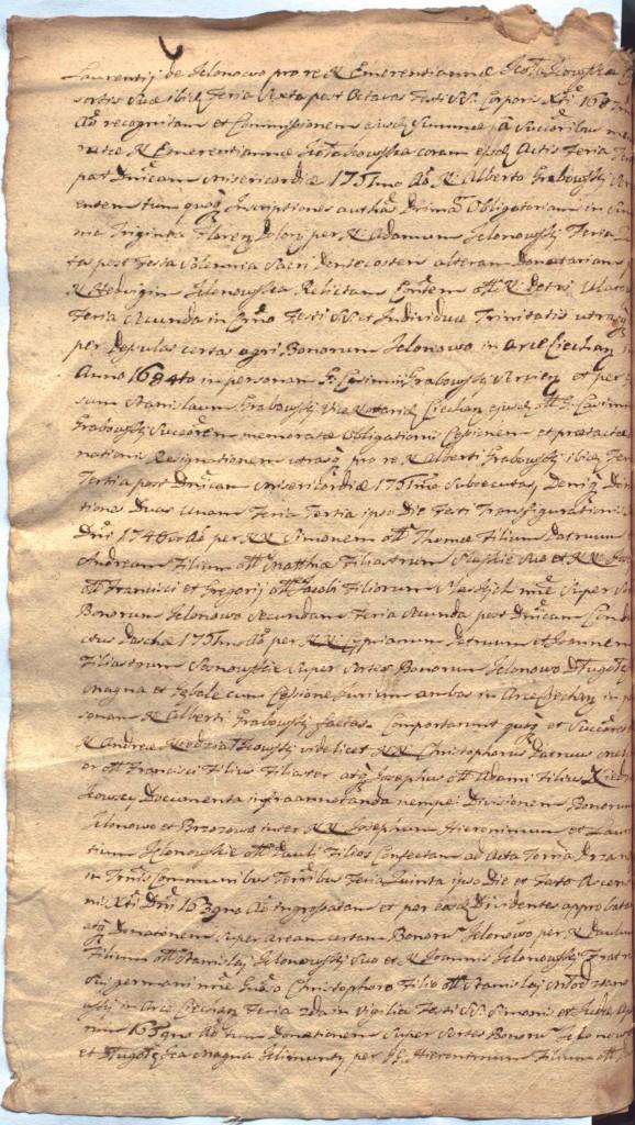 """""""Ciechanowskie Grodzkie Wieczyste"""", sygn.107, k.52v"""