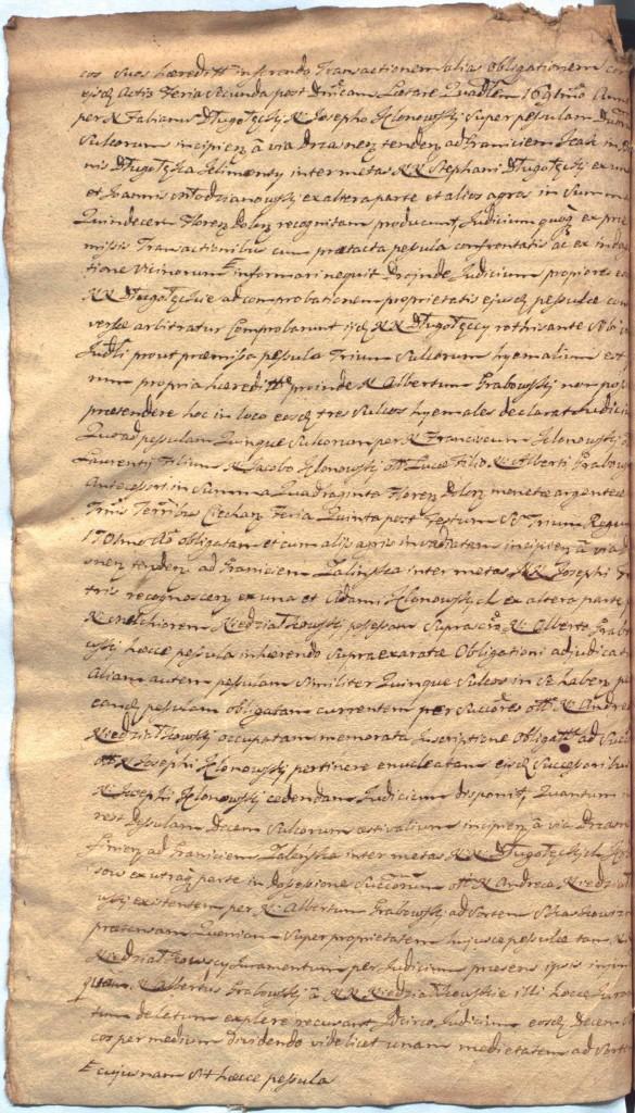 """""""Ciechanowskie Grodzkie Wieczyste"""", sygn.107, k.54v"""