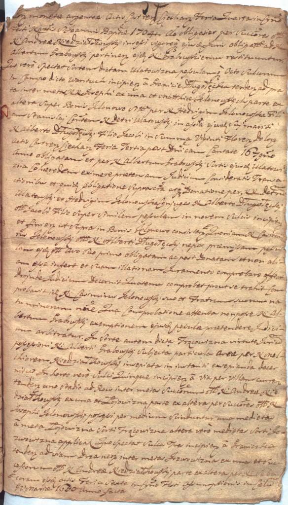 """""""Ciechanowskie Grodzkie Wieczyste"""", sygn.107, k.57r"""