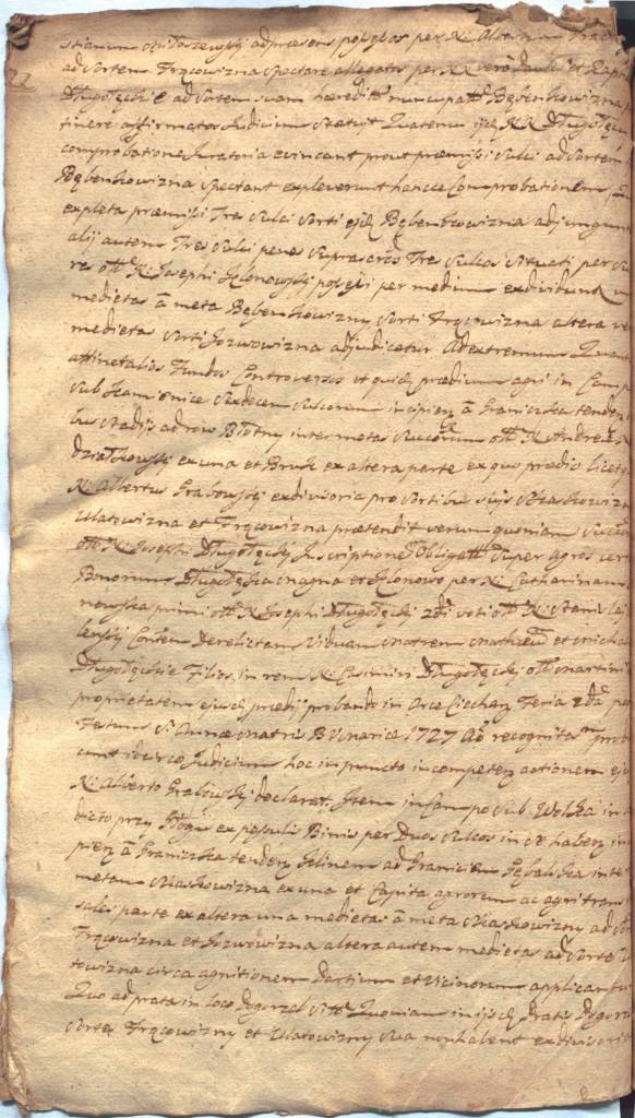 """""""Ciechanowskie Grodzkie Wieczyste"""", sygn.107, k.57v"""
