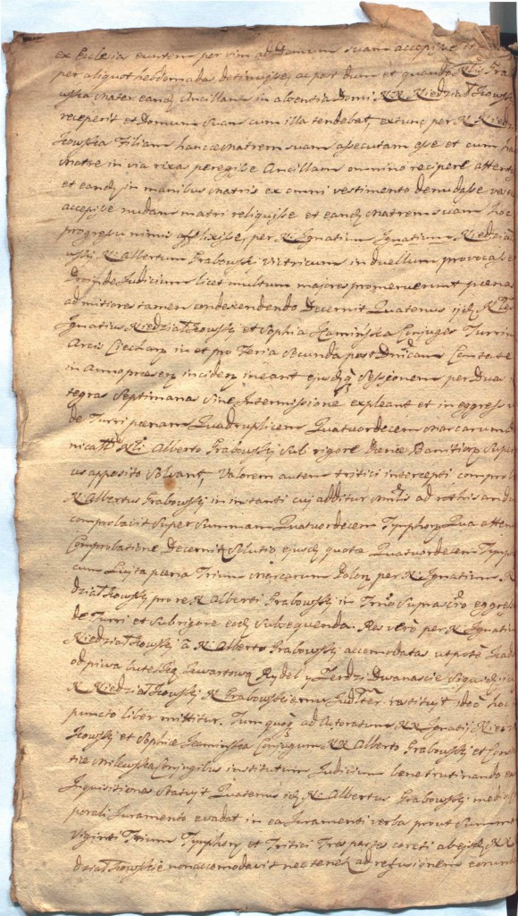 """""""Ciechanowskie Grodzkie Wieczyste"""", sygn.107, k.58v"""