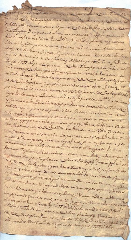 """""""Ciechanowskie Grodzkie Wieczyste"""", sygn.107, k.59r"""