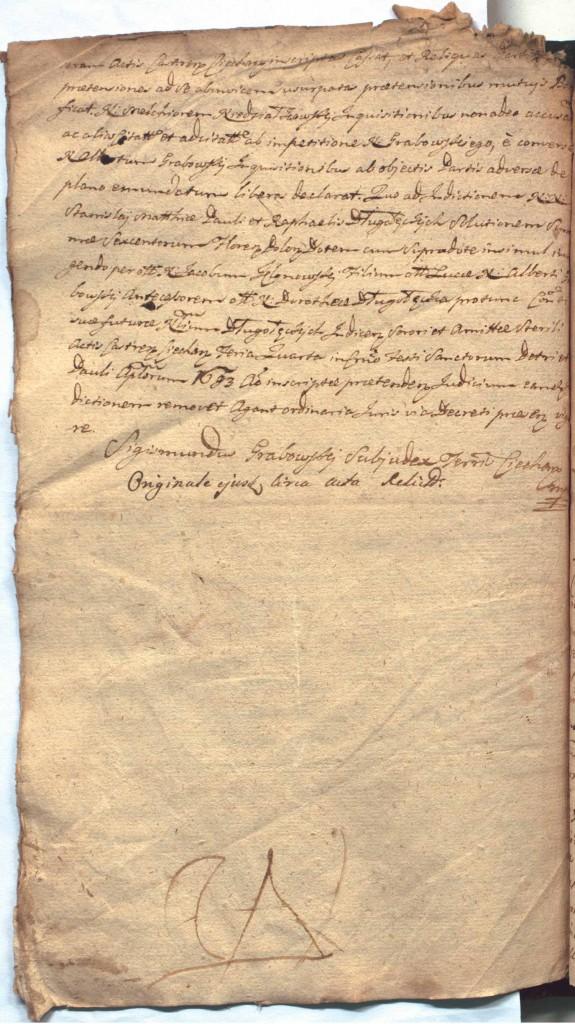 """""""Ciechanowskie Grodzkie Wieczyste"""", sygn.107, k.59v"""