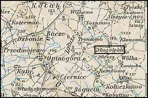 Austrian Military Map of Długołęka (3) – 1910