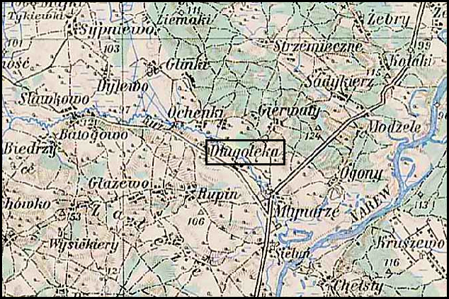 Austrian Military Map of Długołęka (4) – 1910