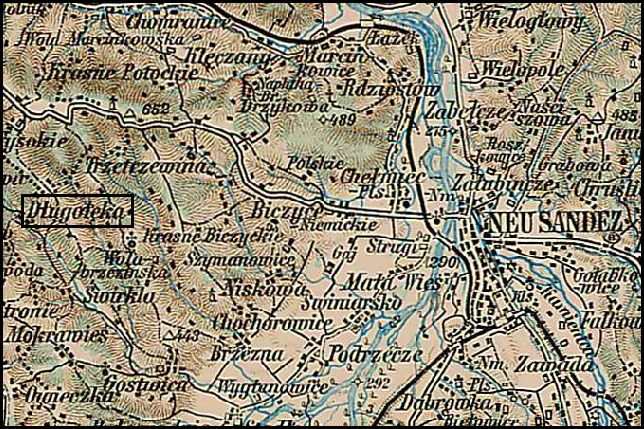 Austrian Military Map of Długołęka (5) – 1910