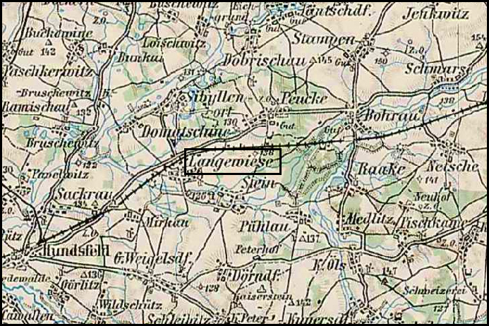 Austrian Military Map of Długołęka (6) - 1910