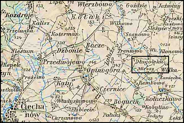Austrian Military Map of the Długołęka-Osyski Area – 1910