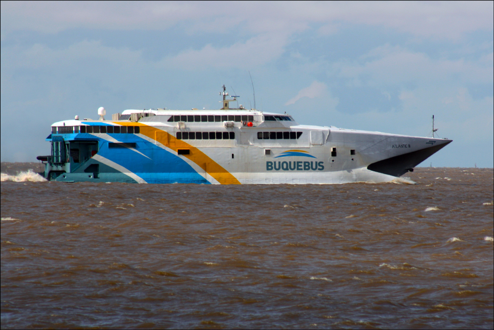 Buquebus on the Río de la Plata