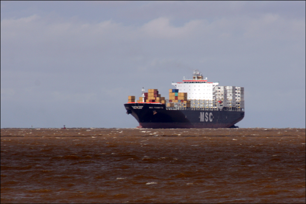 Freighter on the Río de la Plata