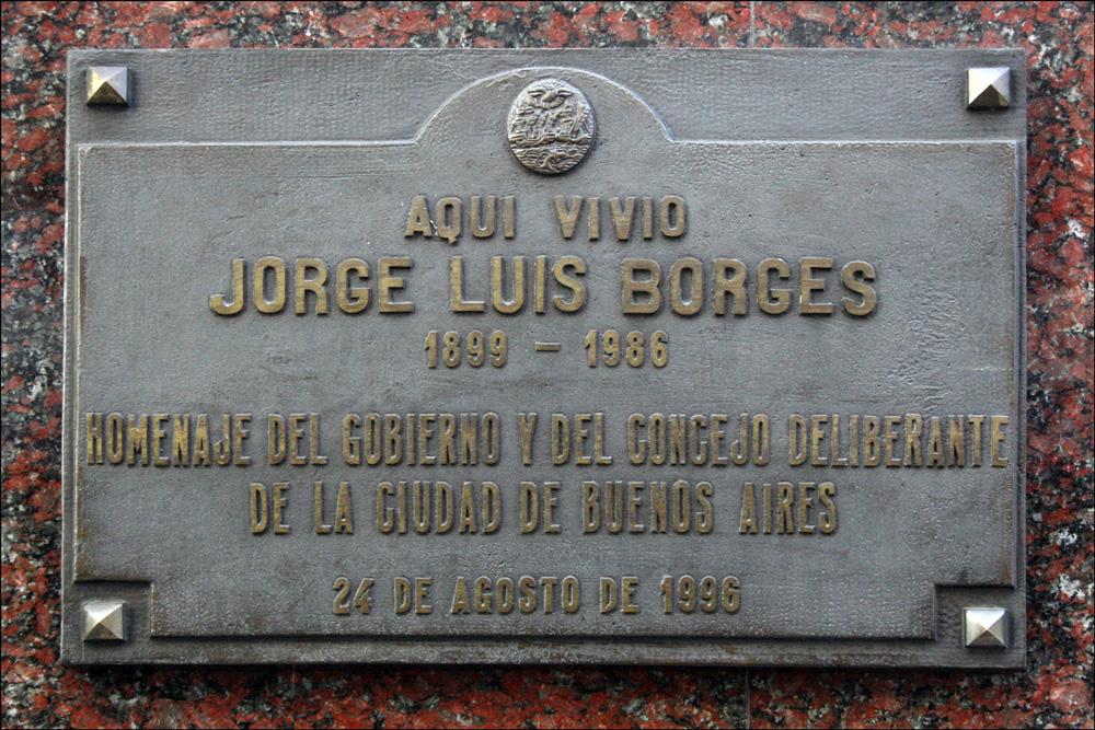 Plaque Honoring Jorge Luis Borges