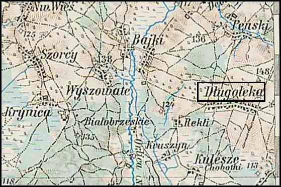 Austrian Military Map of Długołęka (7) – 1910