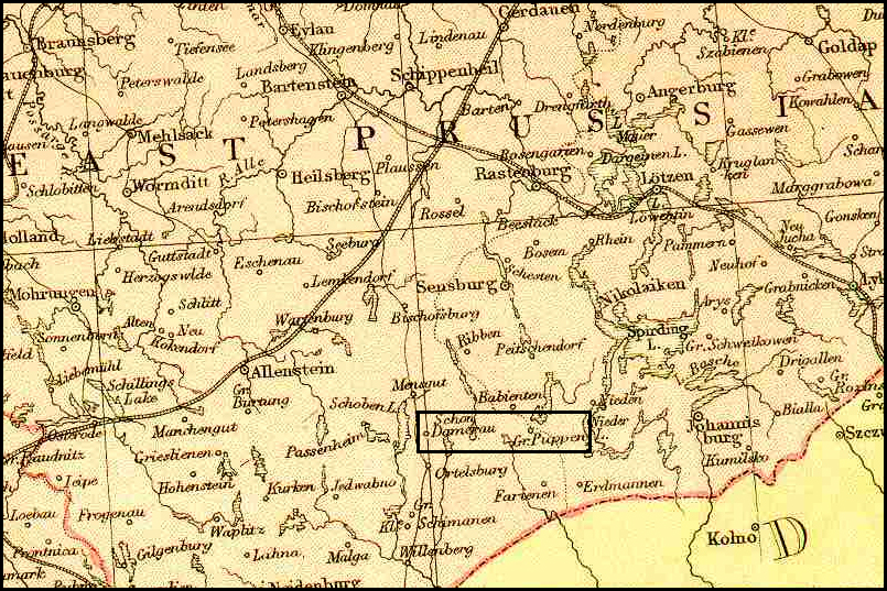 Map of the Piasutno Area – 1882