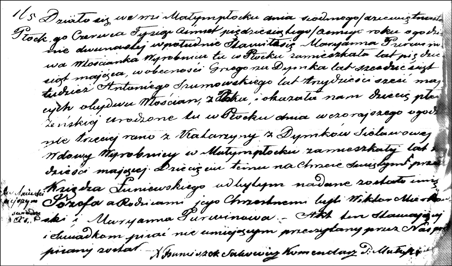 The Birth and Baptismal Record of Józefa Sielawa – 1858
