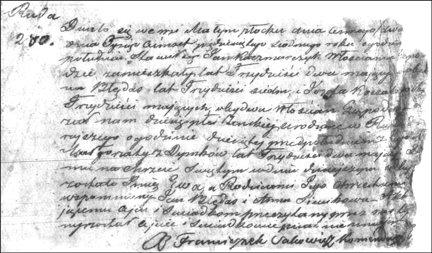 The Birth and Baptismal Record of Ewa Kaczmarczyk – 1857