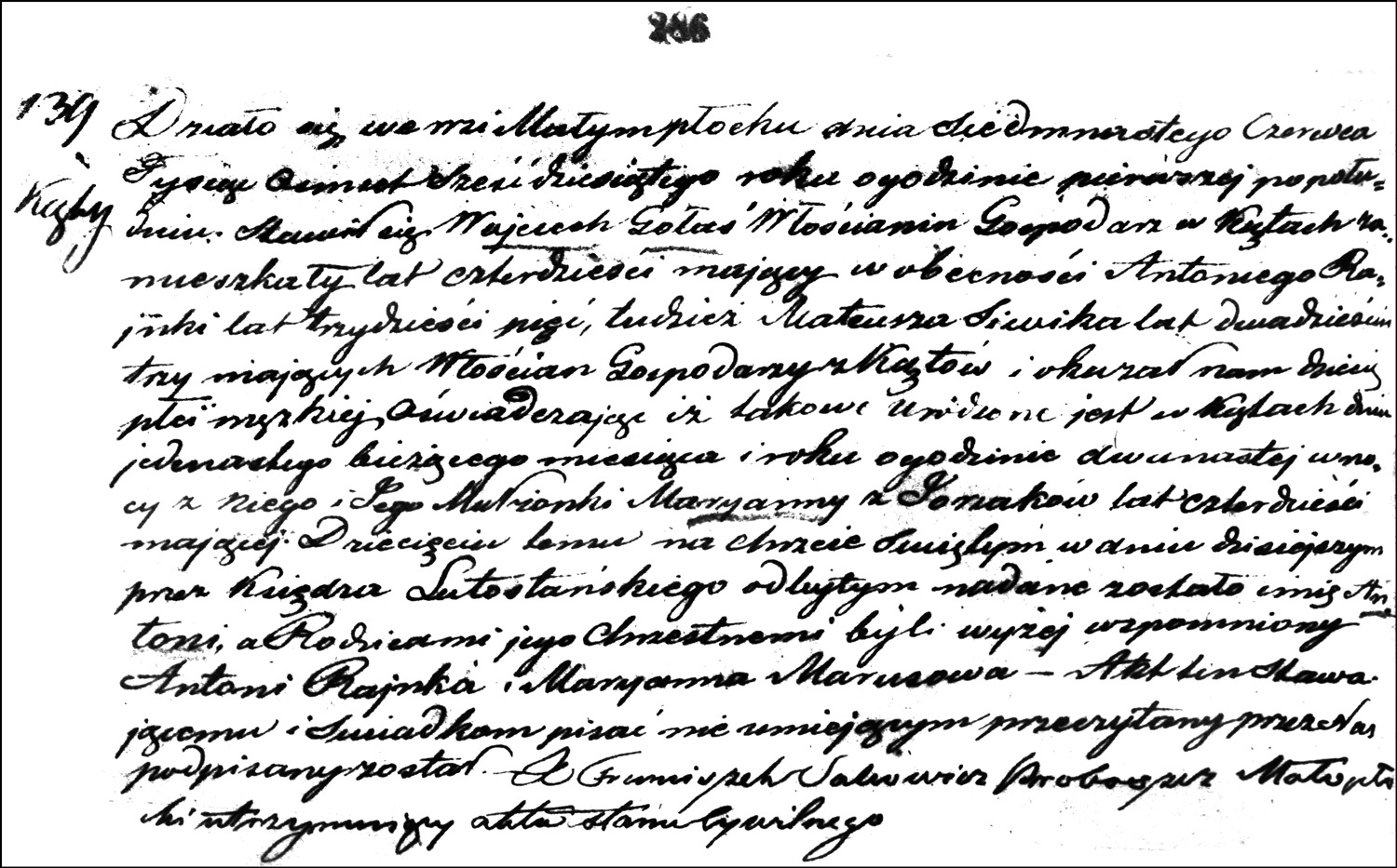 The Birth and Baptismal Record of Antoni Gołaś – 1862
