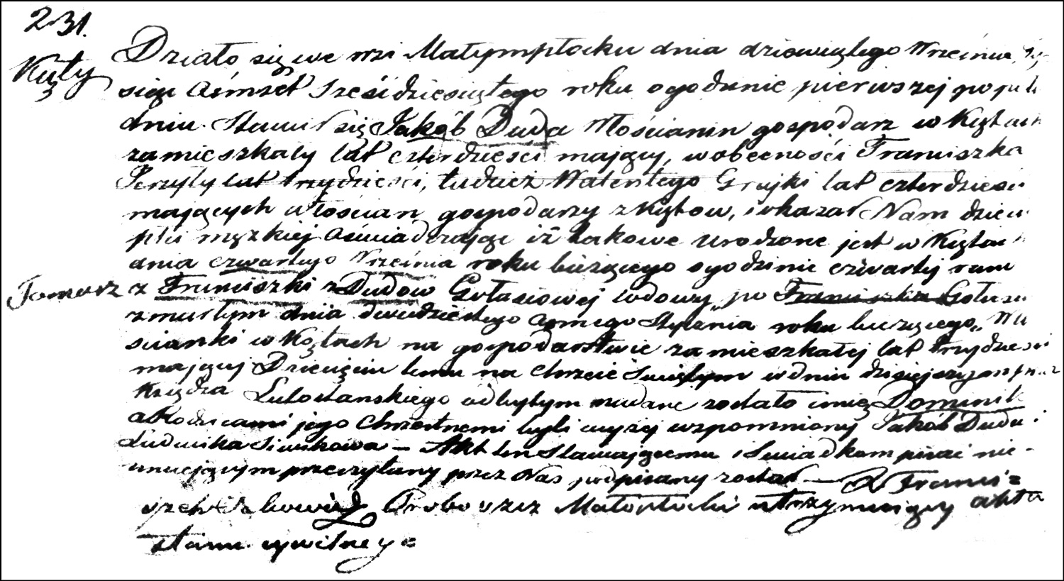 The Birth and Baptismal Record of Dominik Gołaś - 1860