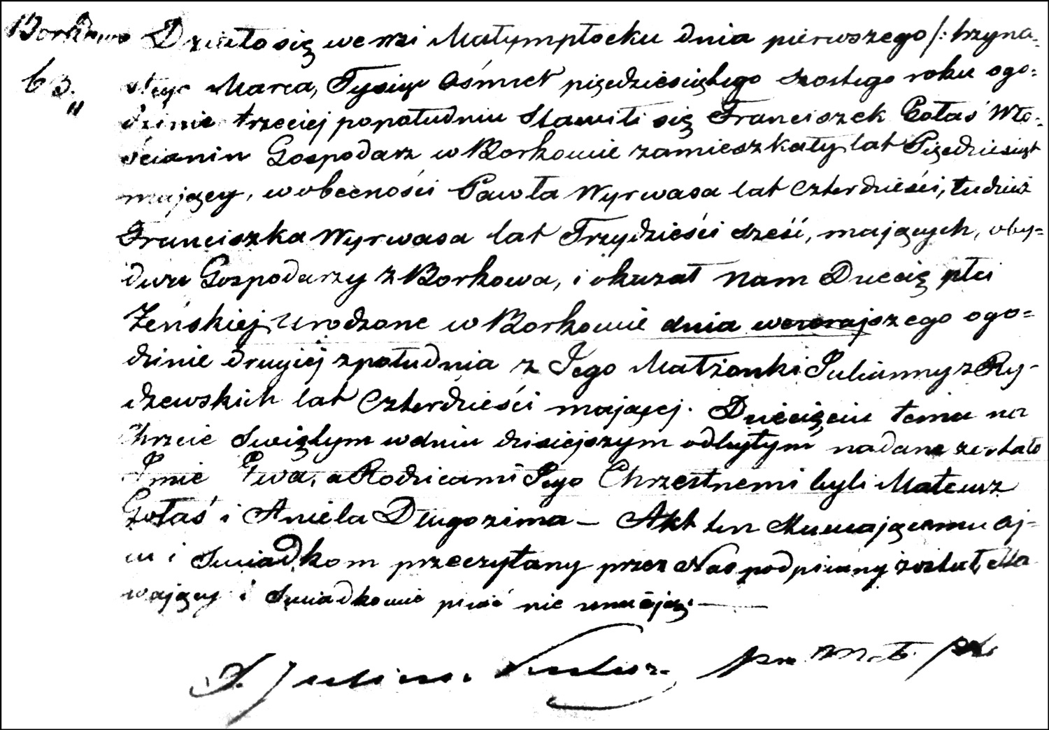 The Birth and Baptismal Record of Ewa Gołaś – 1856
