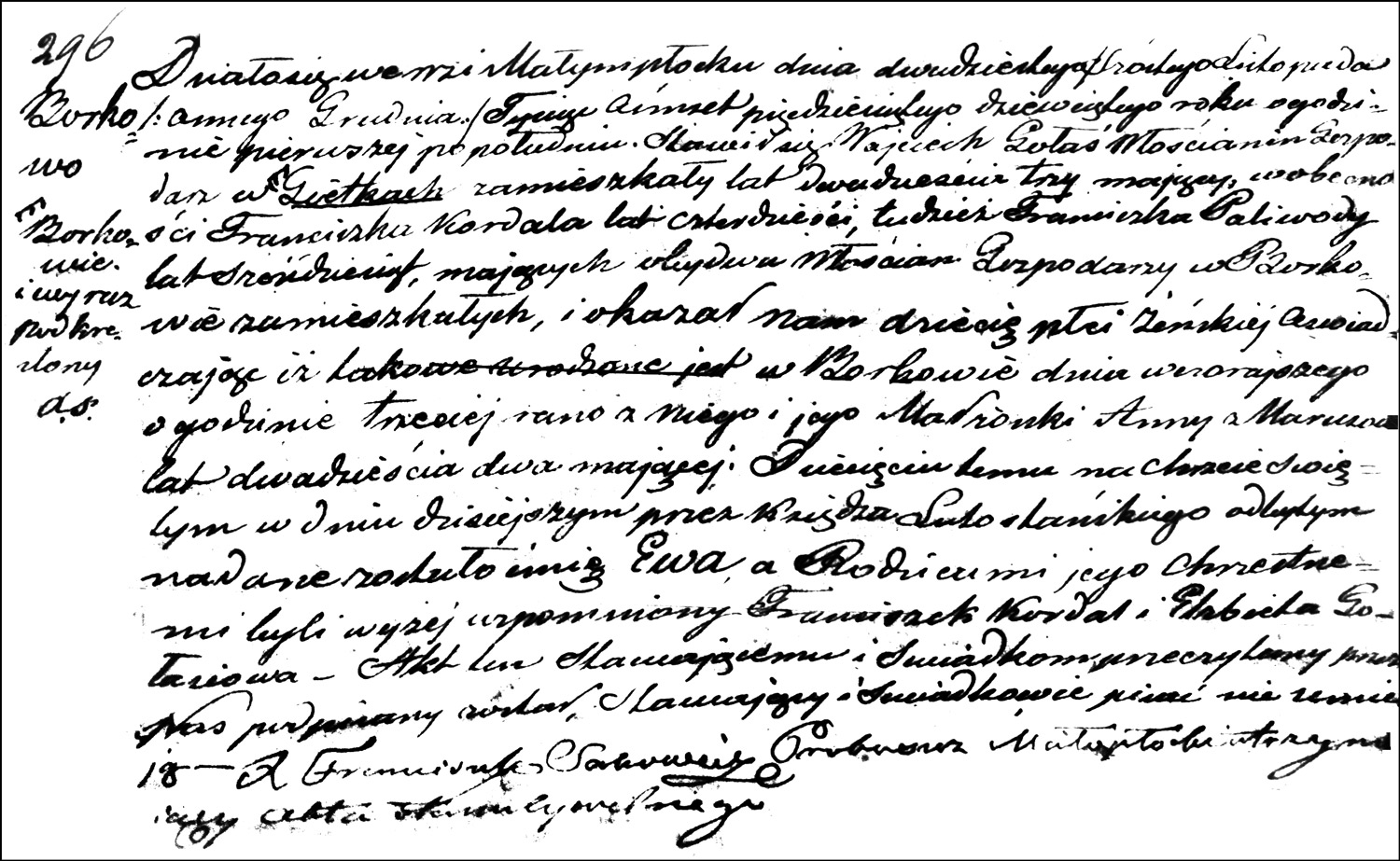 The Birth and Baptismal Record of Ewa Gołaś – 1859