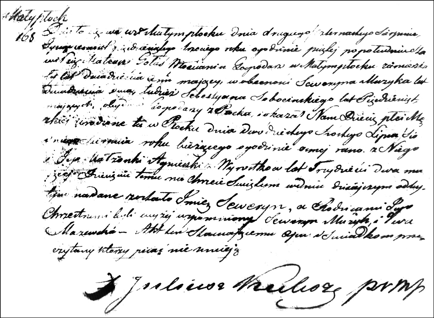 The Birth and Baptismal Record of Seweryn Gołaś – 1853
