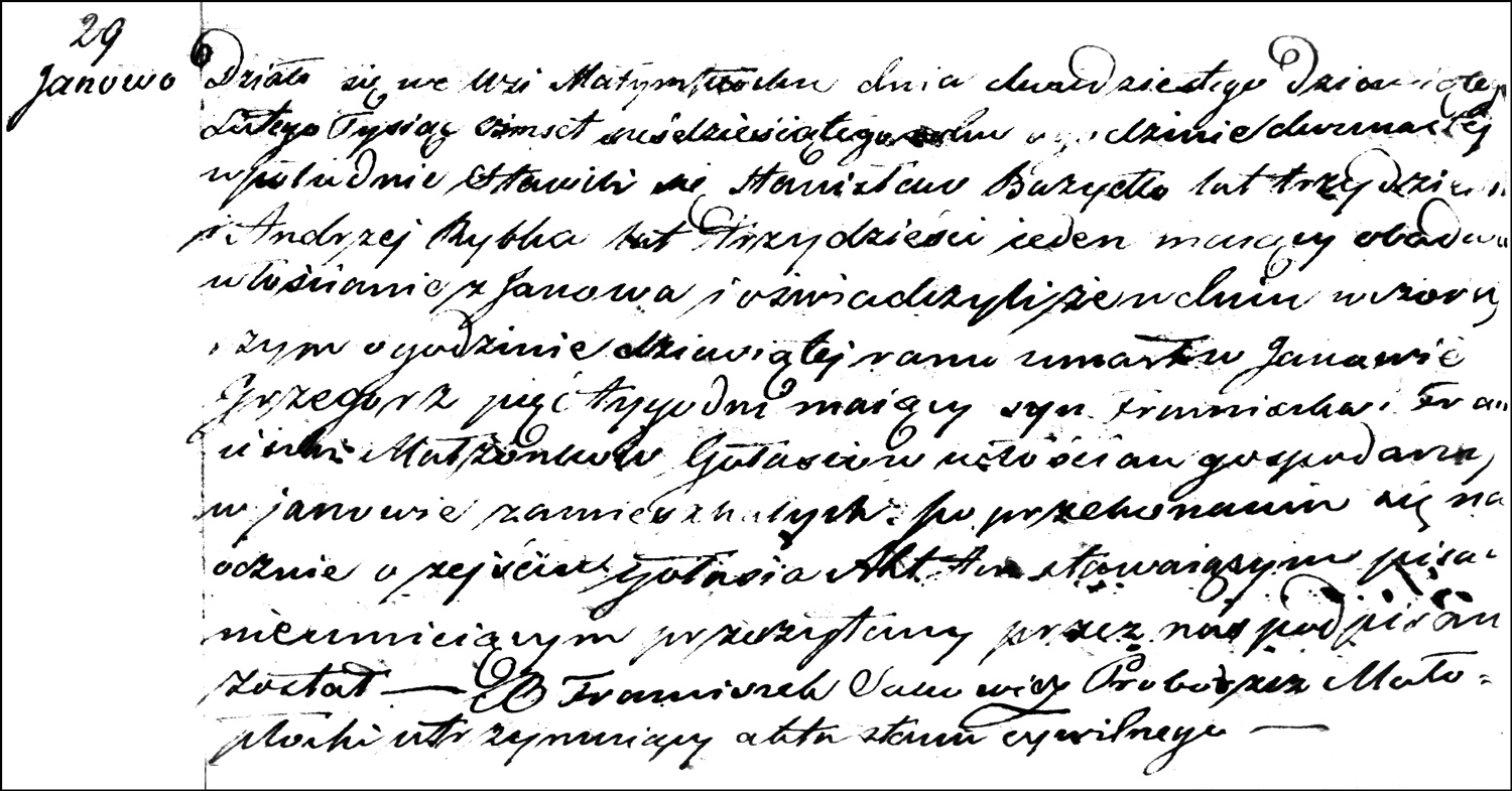 The Death and Burial Record of Grzegorz Gołaś – 1860