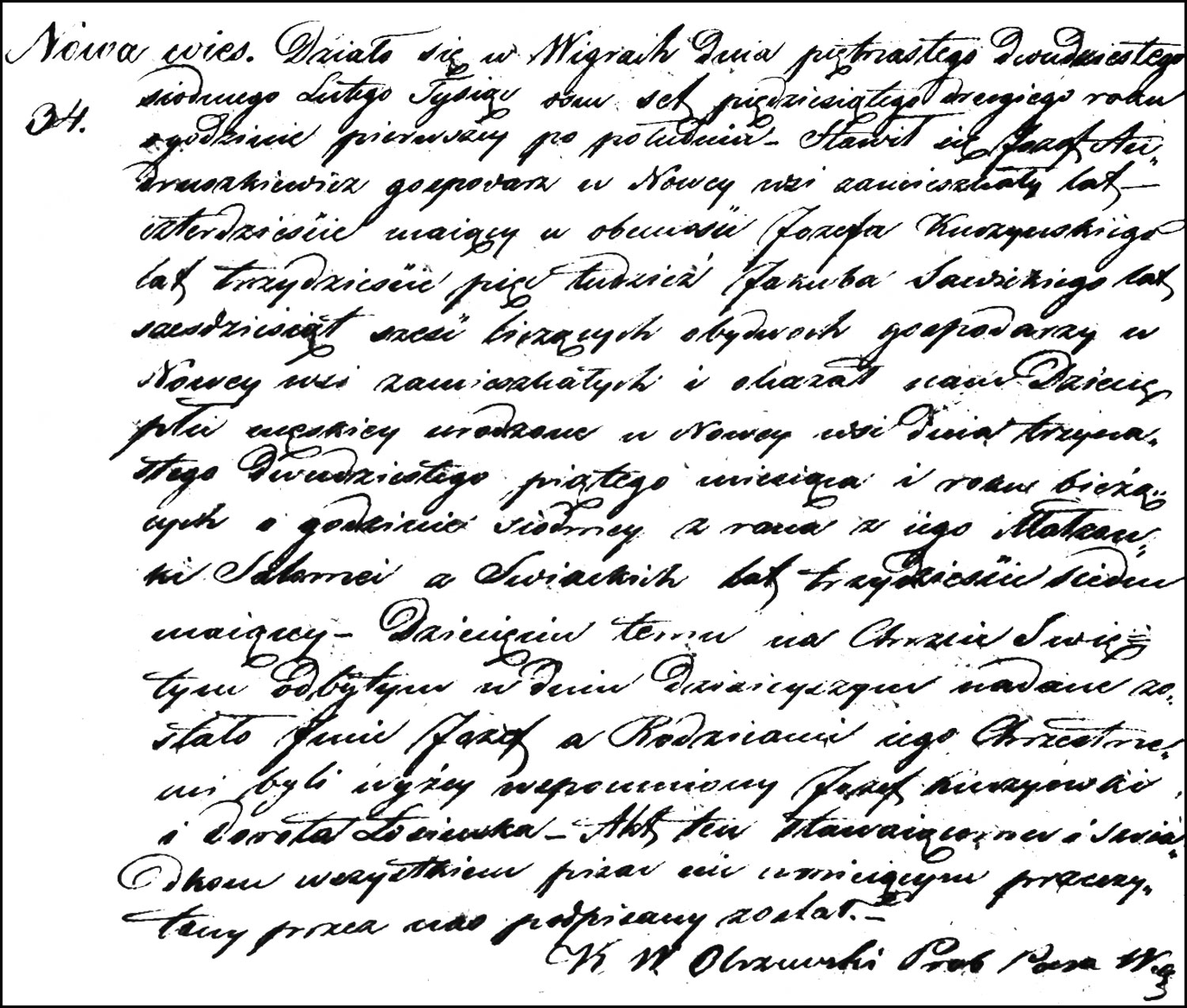 The Birth and Baptismal Record of Józef Andruszkiewicz – 1852