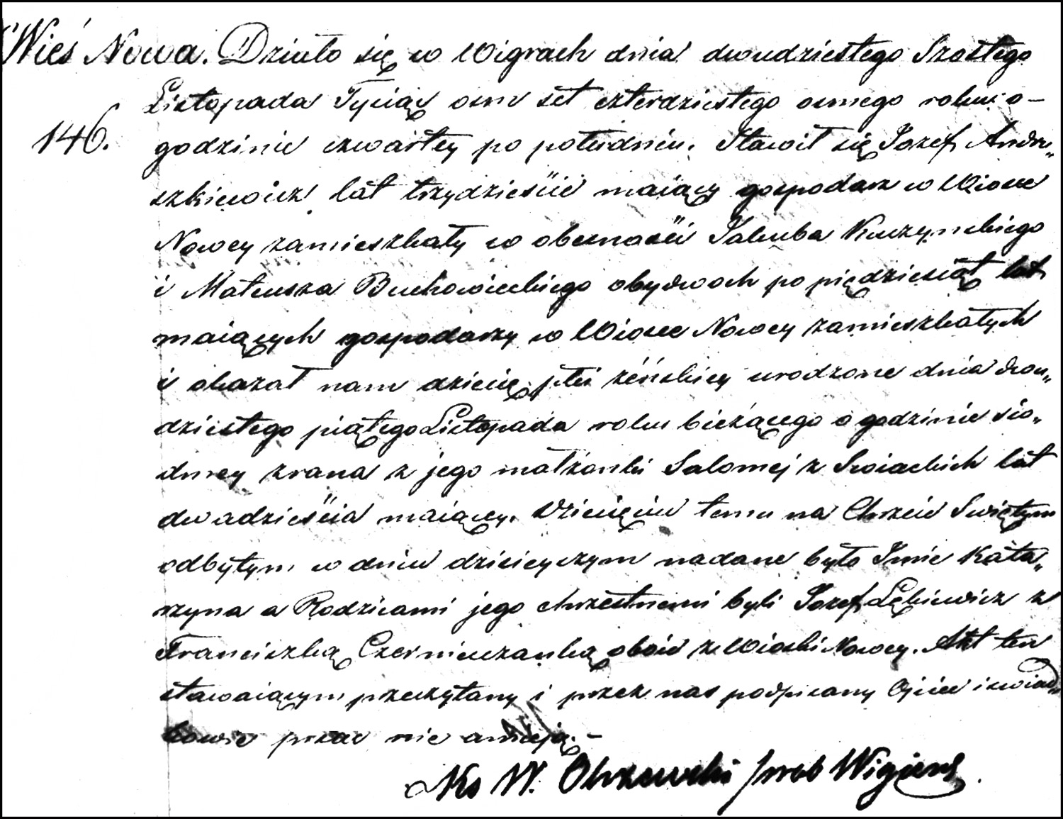 The Birth and Baptismal Record of Katarzyna Andruszkiewicz – 1848
