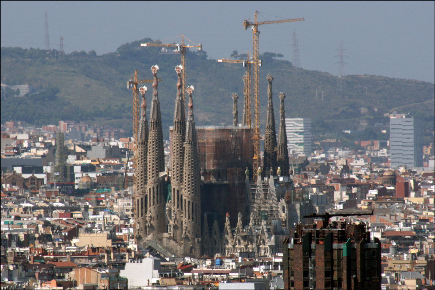 La Sagrada Familia from a Distance