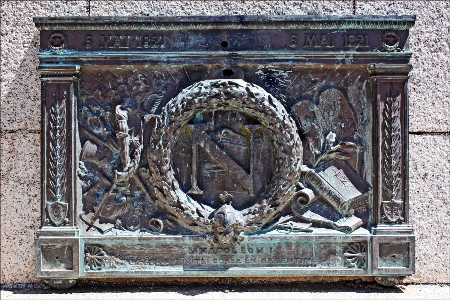 Plaque in la Place d'Austerlitz