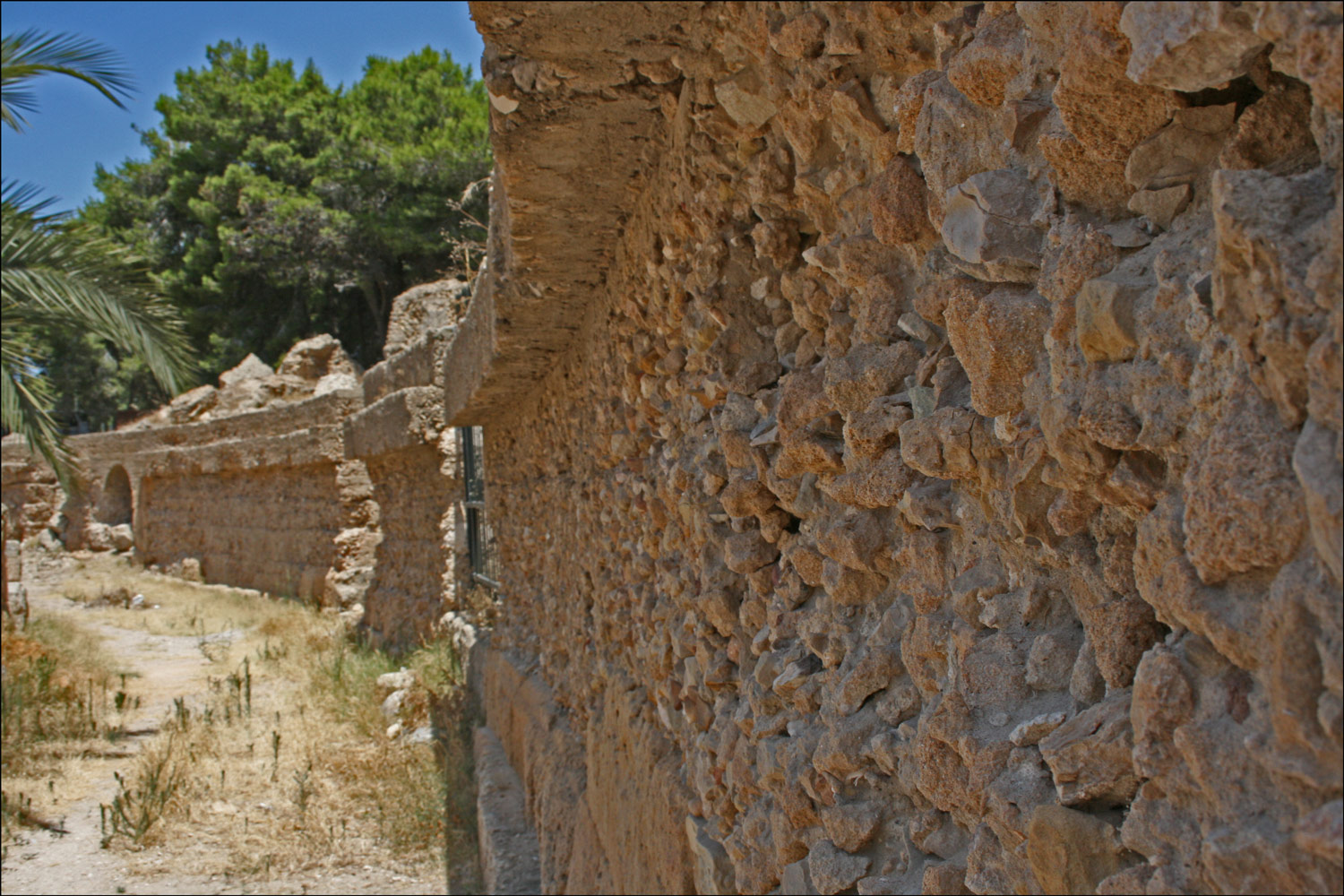 Detail of Wall in the Roman Amphitheater in Carthage