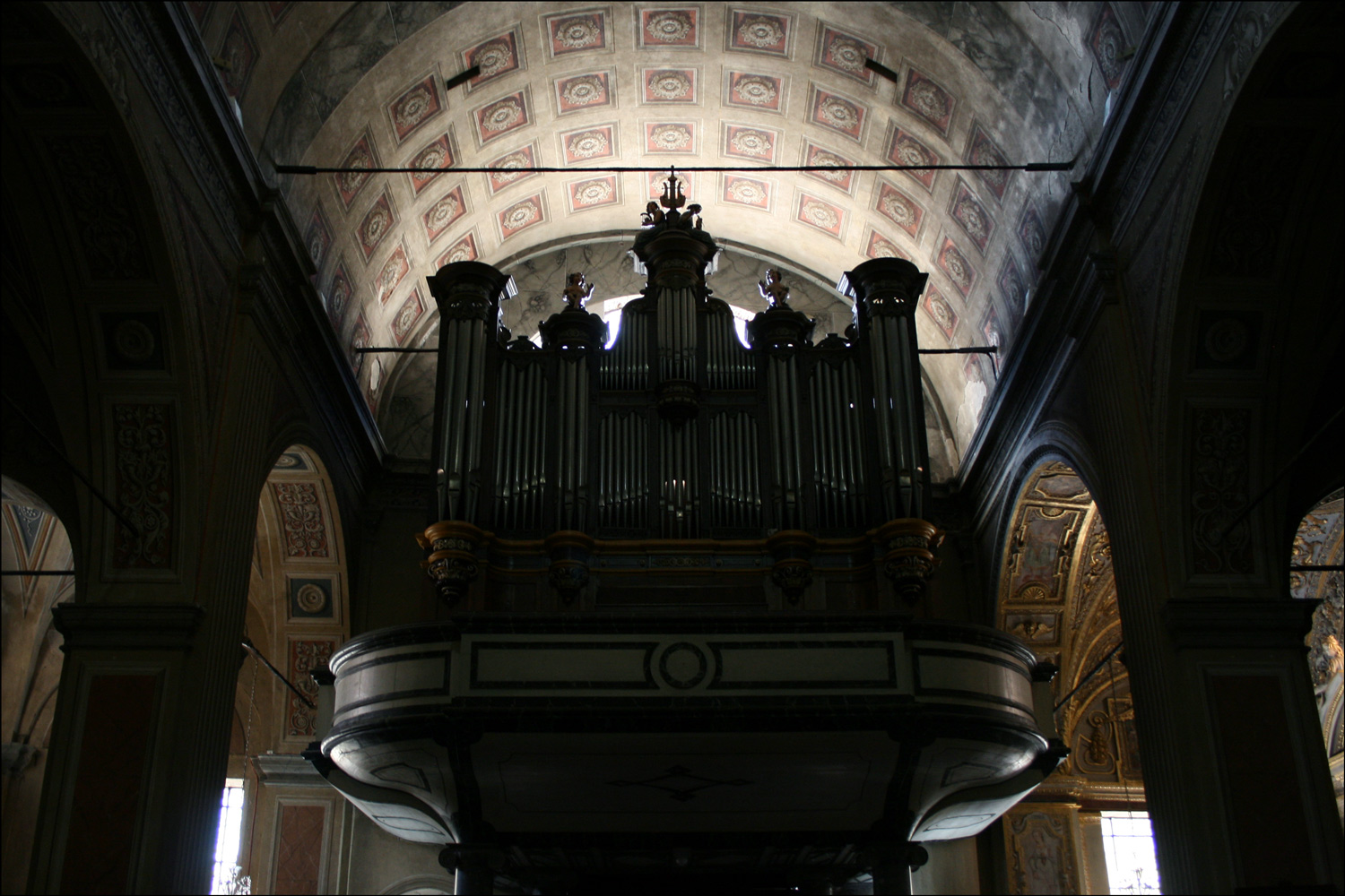 Organ Pipes in the Cathedral of the Assumption