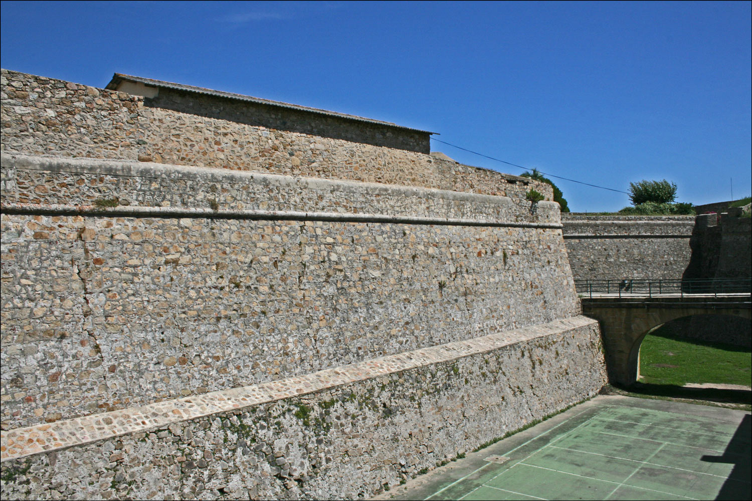 Wall of the Citadel in Ajaccio