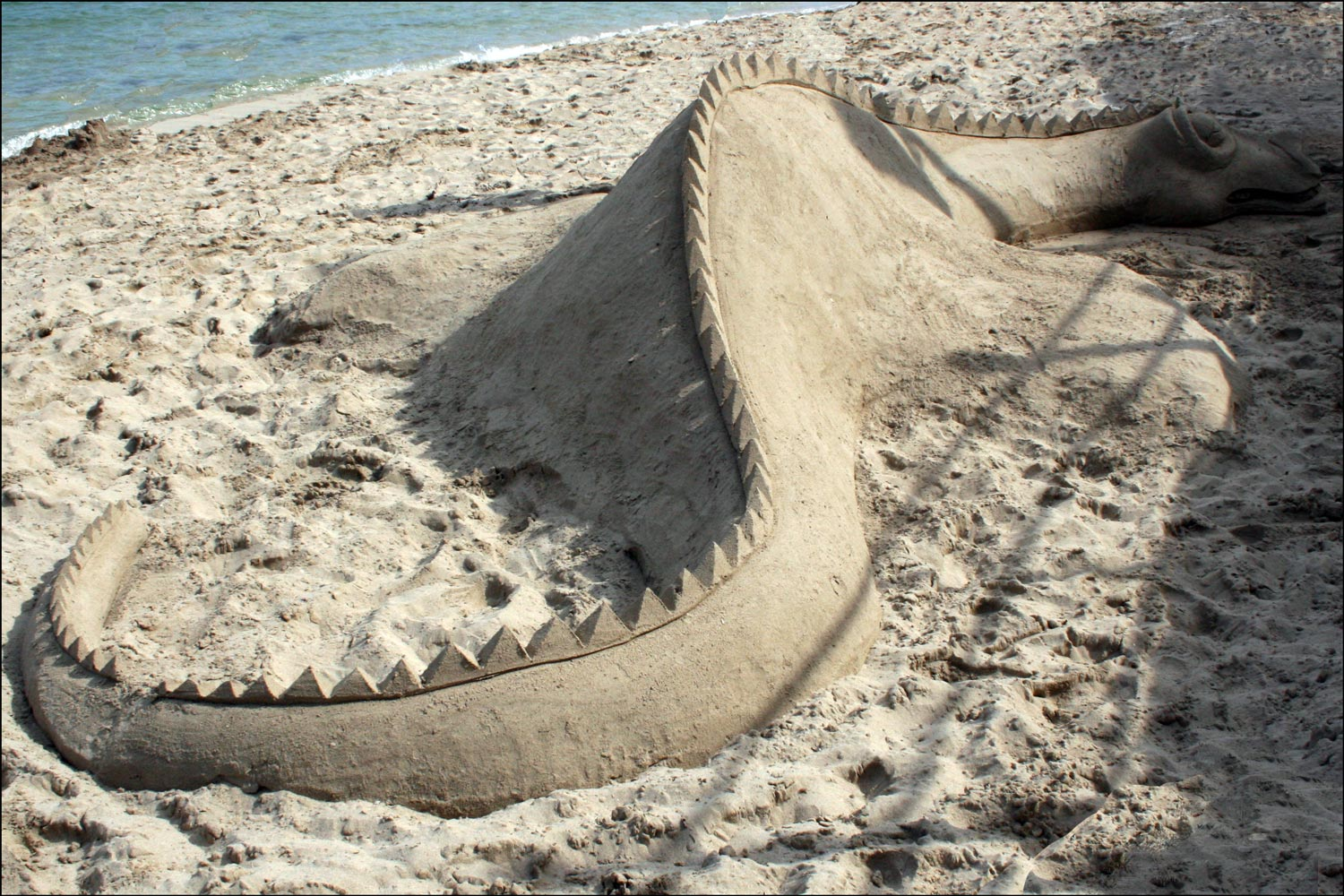 Dragon in Sand
