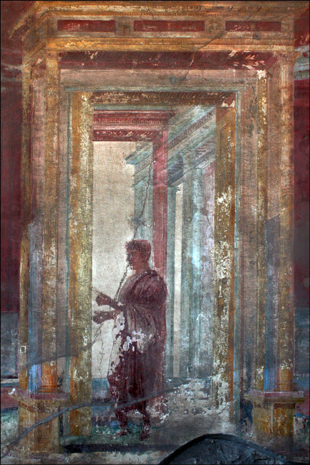 Painting of Man in Toga in the Macellum